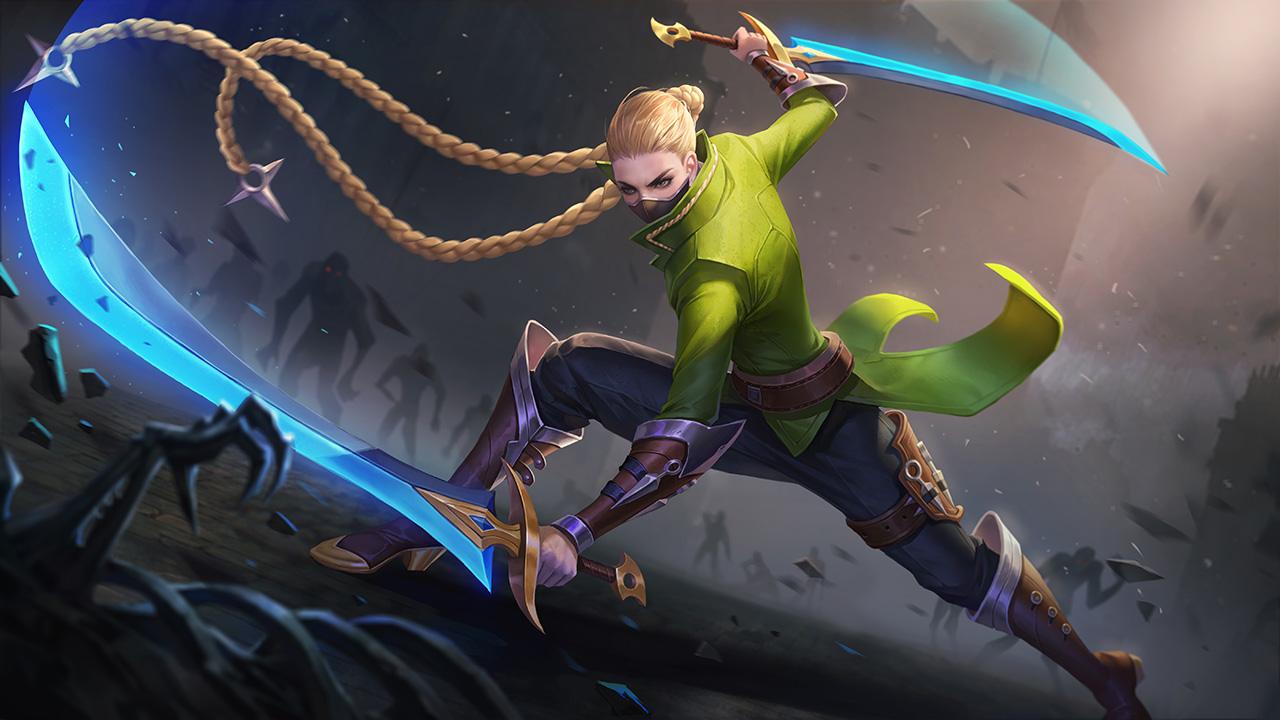 Trước khi Airi ra mắt, mẫu sát thủ có bộ kỹ năng cơ động tương tự như vị  tướng này chỉ có duy nhất một mình Nakroth.
