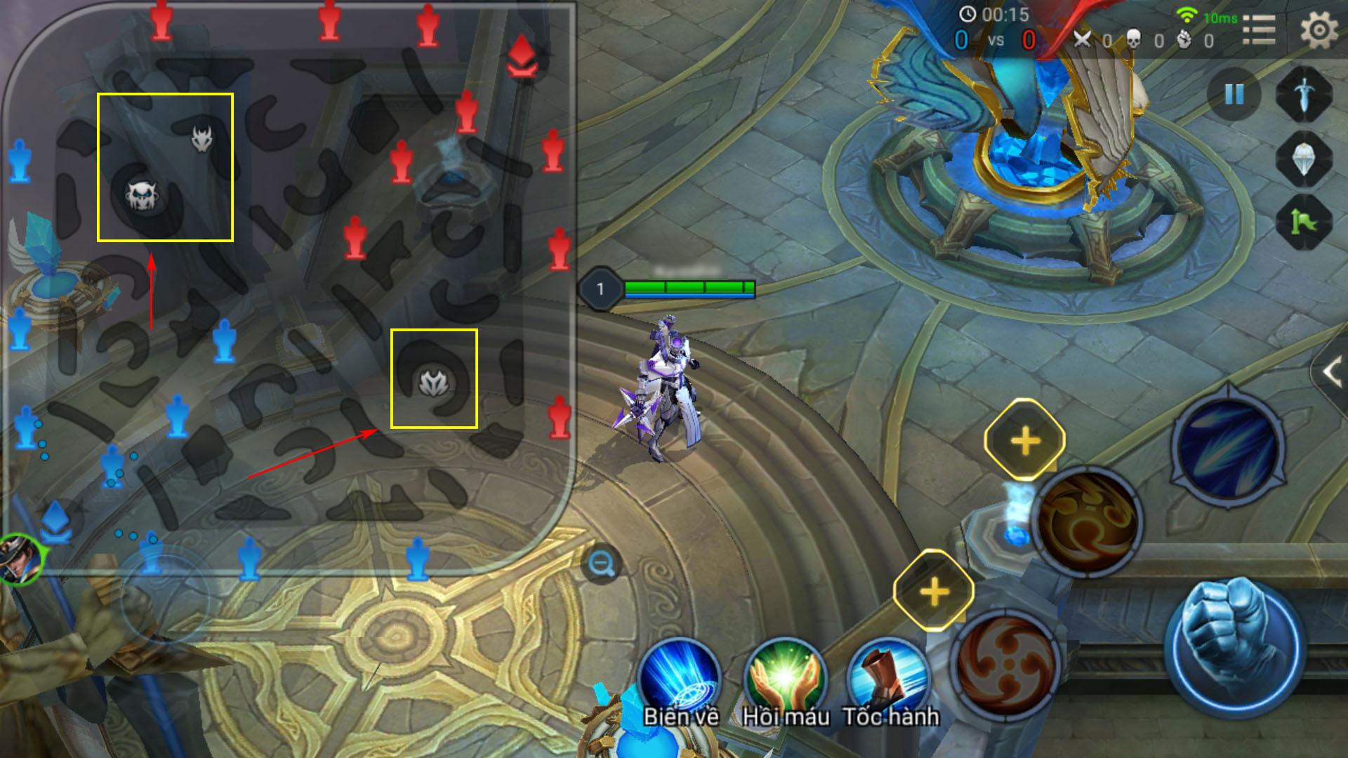 ... các tựa game MOBA trên PC, dù ở đội 1 hay đội 2 thì khi vào trận, phe  của bạn cũng sẽ nằm ở phía nửa dưới bên trái trên bản đồ.